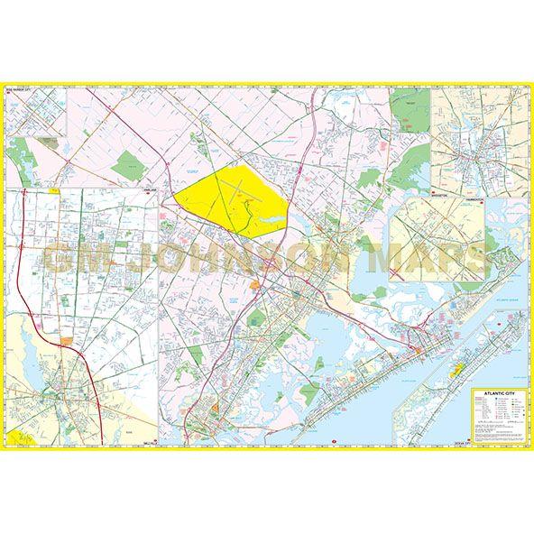 Atlantic City Cape May Cumberland County New Jersey Street: Cumberland County Nj Map At Slyspyder.com