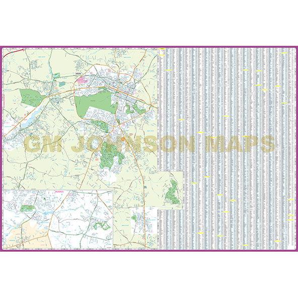 Augusta GA Aikens SC Georgia Street Map GM Johnson Maps