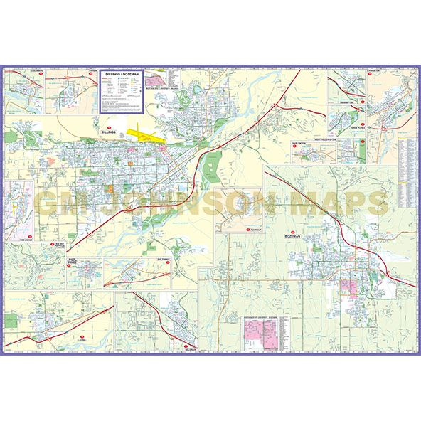 Billings Bozeman South Central Montana Cities Counties - Montana cities map