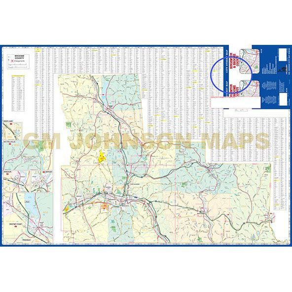 Binghamton & Broome County, New York Street Map - GM Johnson Maps