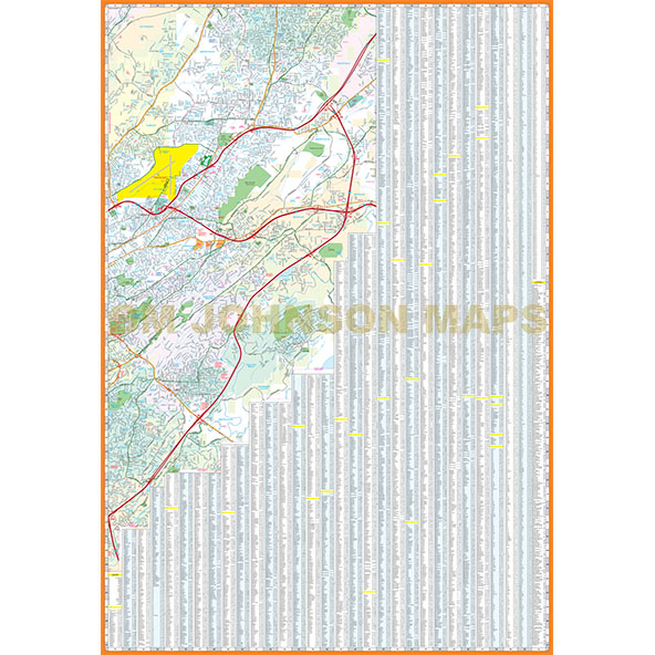 Birmingham Alabama Street Map GM Johnson Maps