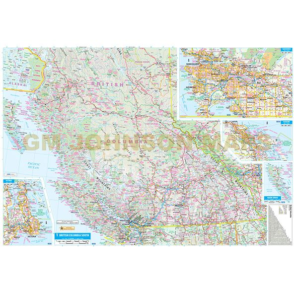 British columbia large print yukon canada province map gm click on image below to view zoom map gumiabroncs Gallery