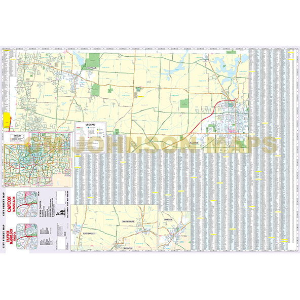 Canton Massillon Stark County Ohio Street Map Gm Johnson Maps