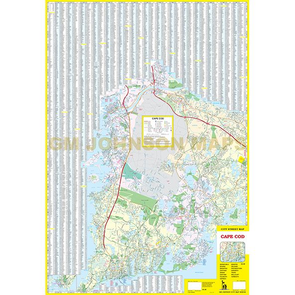 Cape Cod, Massachusetts Street Map - GM Johnson Maps