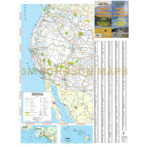 Central & Western United States / Large Print Map - GM ... on large print map of kentucky, large print map of utah, large print map of oregon, large print map of south america, large print map of san francisco, large print map of arkansas, large print map of ecuador, large print map of iowa, large print map of philippines, large print map of indiana, large print map of wisconsin, large print map of north carolina, large print map of russia, large print map of central america, large print map of bulgaria, large print map of paris, large print map of nevada, large print map of australia, large print map of south dakota, large print map of wyoming,