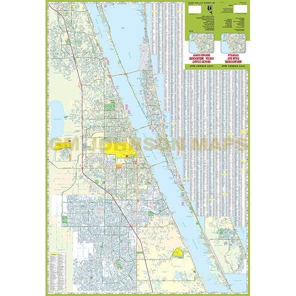 Cocoa Melbourne Brevard County Space Coast Florida Street - Florida coast map
