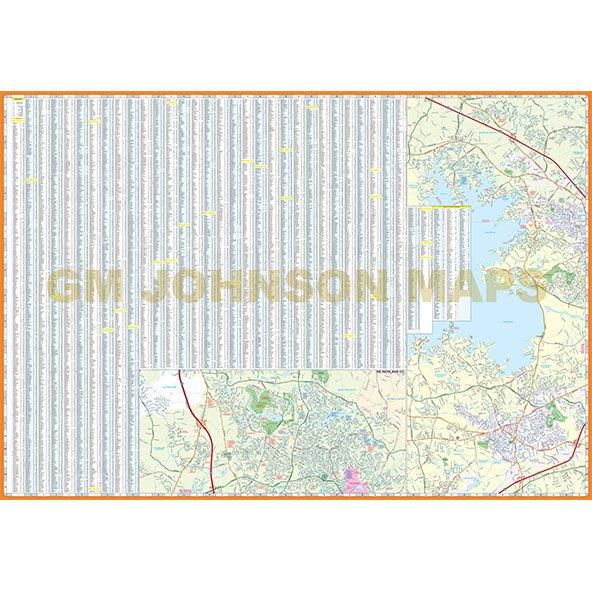 Columbia West Columbia South Carolina Street Map Gm Johnson Maps