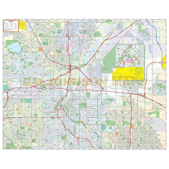Denver, Colorado Street Map - GM Johnson Maps