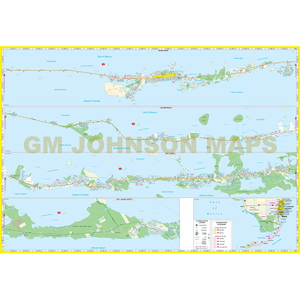 Map Of Florida Key West.Florida Keys Key West Upper Lower Keys Florida Street Map