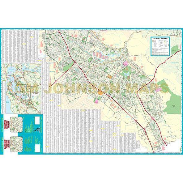 Fremont Hayward California Street Map GM Johnson Maps