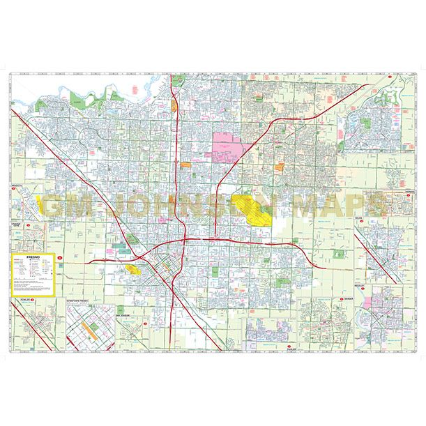 Aaa California Map.Fresno Clovis Hanford Lemore California Street Map Gm
