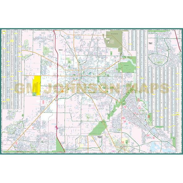 Map University Of Florida.Gainesville Ocala University Of Florida Florida Street Map Gm