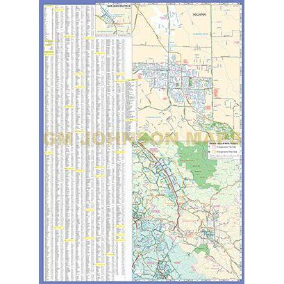 Gilroy Morgan Hill Hollister California Street Map Gm Johnson