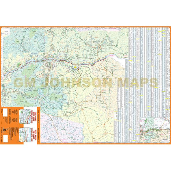 Hood River The Dalles Columbia River Gorge Oregon Street Map