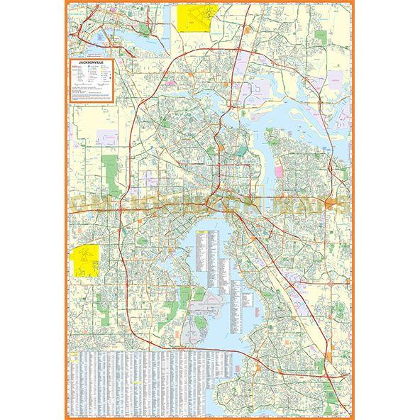 Jacksonville, Florida Street Map - GM Johnson Maps