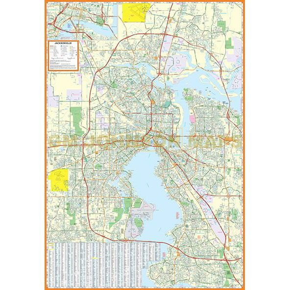 Jacksonville Florida Street Map Gm Johnson Maps