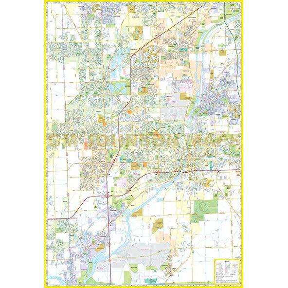 Joliet Will County Illinois Street Map GM Johnson Maps