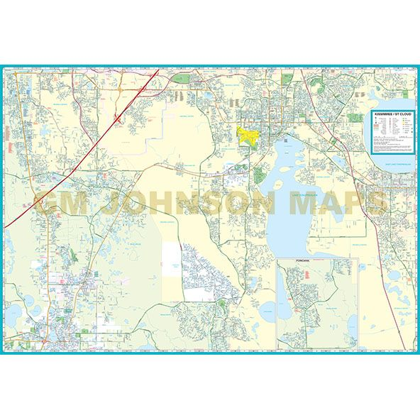 St Cloud Florida Map.Kissimmee St Cloud Osceola County Florida Street Map Gm