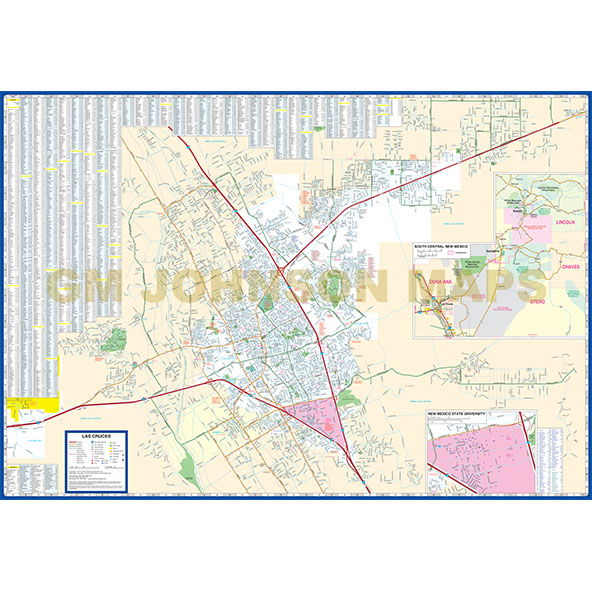 Las Cruces / Alamogordo / Ruidoso, New Mexico Street Map ... on census map las cruces nm, map hotels las cruces nm, city street map of ruidoso nm, printable map of las cruces nm, map of southern nm, city of los alamos nm, street map of espanola nm, scale on a map of nm, street map of farmington nm, map of az and nm,