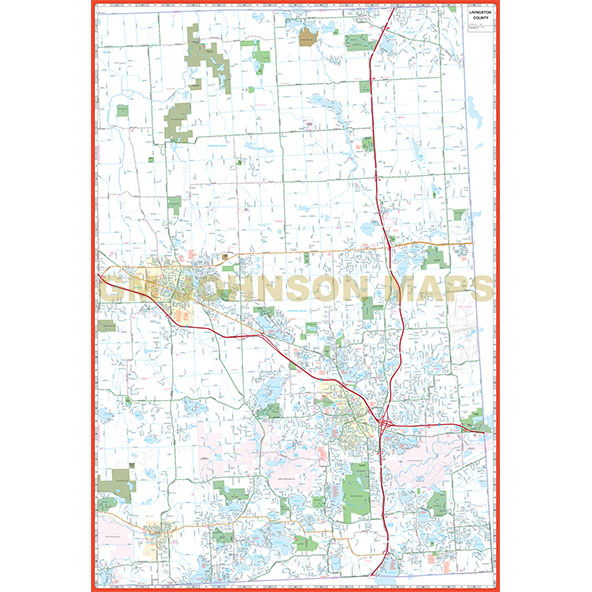 Livingston County Brighton Howell Michigan Street Map GM