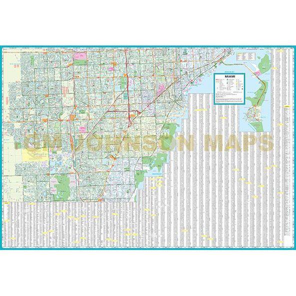 Miami Florida Street Map Gm Johnson Maps