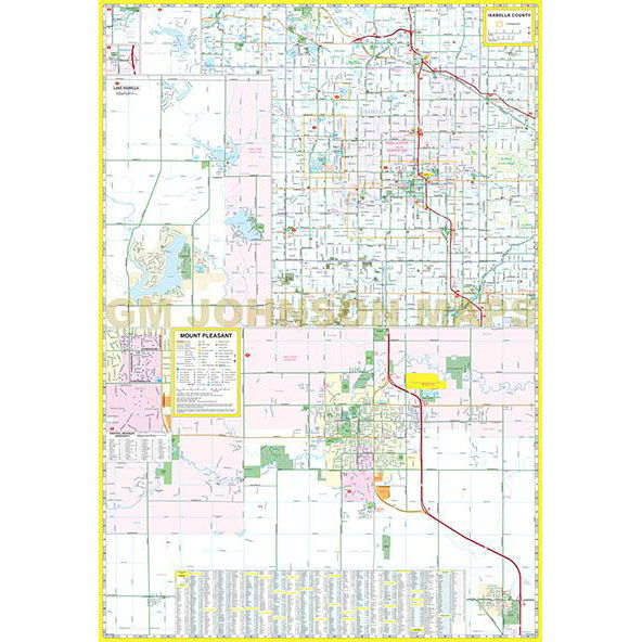 Midland Mt Pleasant Michigan Street Map GM Johnson Maps