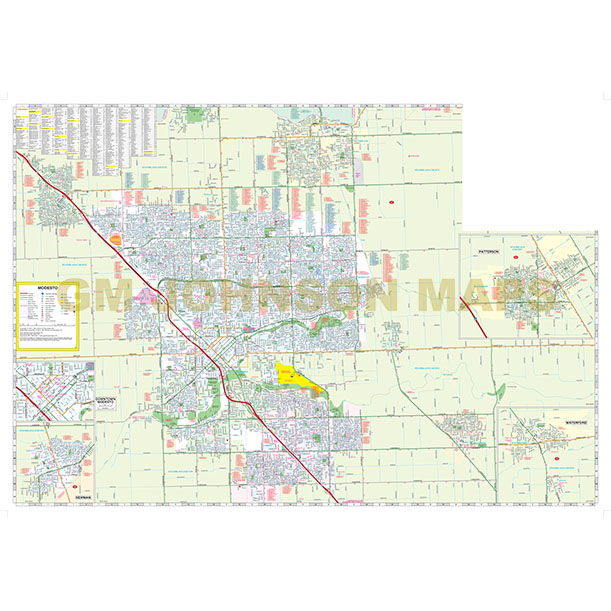 Aaa California Map.Modesto Ceres Turlock Oakdale California Street Map Gm