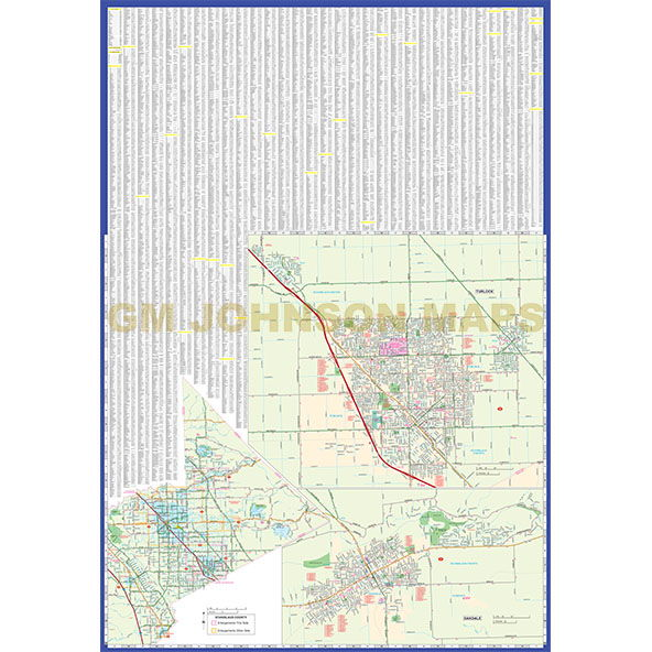 Modesto Turlock Stanislaus County California Street Map GM - California map modesto