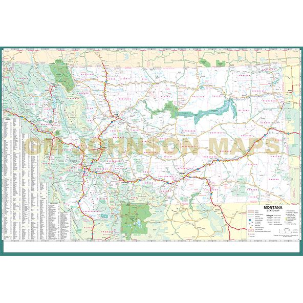 Montana Large Print, Montana State Map - GM Johnson Maps on zoom map of texas, atlas of montana, zoom in map, zoom map of united states,