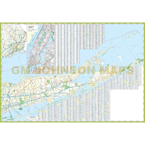 Map Of New York City And Long Island.New York City Long Island New York Regional Map Gm Johnson Maps