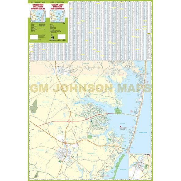 Ocean City Salisbury South East Maryland Maryland Street Map