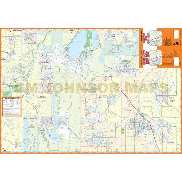Ontario Or Payette Id Mccall Weiser Emmett Idaho Street Map