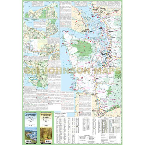 Oregon Washington Coast Large Print Oregon State Map GM - Map of oregon and washington