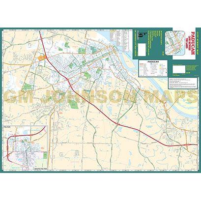 Paducah / Land Between the Lakes, Kentucky Street Map - GM Johnson Maps