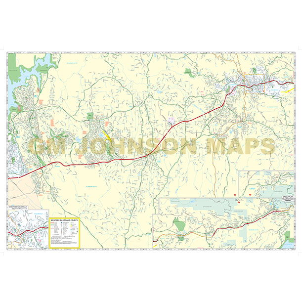 Placerville California Map.Placerville El Dorado Hills Cameron Park California Street Map