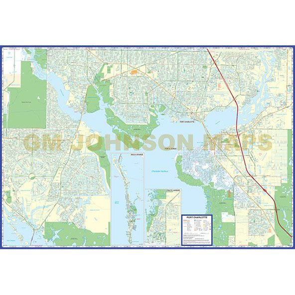 Street Map Port Charlotte Florida.Port Charlotte Punta Gorda North Port Florida Street Map Gm