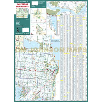 Printable Road Map Of St Clair County Michigan on