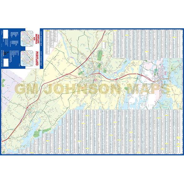 Portland, Maine Street Map - GM Johnson Maps