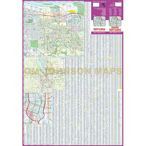 Portland, Oregon Street Map - GM Johnson Maps