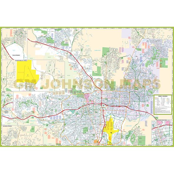 map of sparks nevada Reno Sparks Nevada Street Map Gm Johnson Maps map of sparks nevada