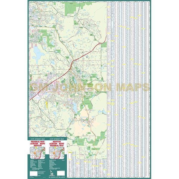 Renton / Auburn / Kent / Federal Way, Washington Street Map ... on map of kent wa area, map of seattle, map of beaverton oregon, map of kent falls, map of kent ohio, map of kent county, map of eugene oregon, map auburn to kent wa, map of kent state, interurban trail map kent washington, map central ave in kent, map of downtown kent wa, map of kent station wa, downtown kent washington, map of kent olympia,