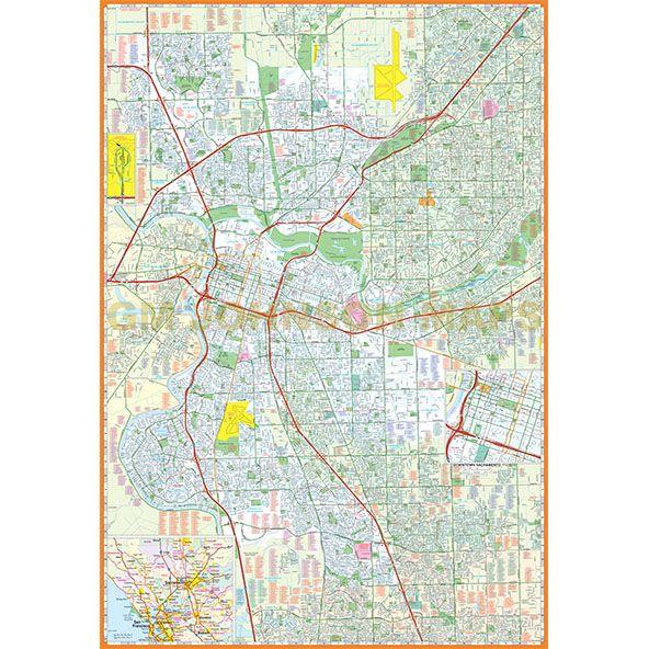 Sacramento California Street Map Gm Johnson Maps