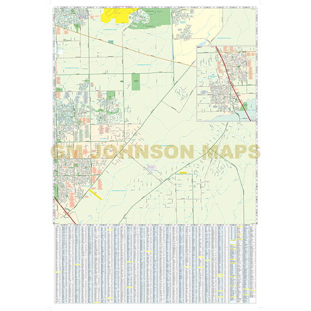 Sacramento SouthElk GroveGalt California Street Map GM Johnson Maps