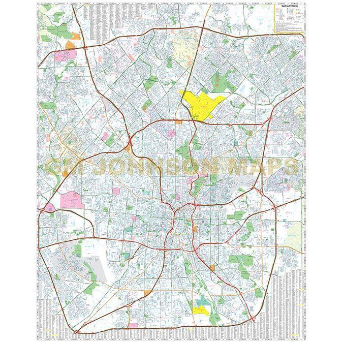 San Antonio, Texas Street Map - GM Johnson Maps