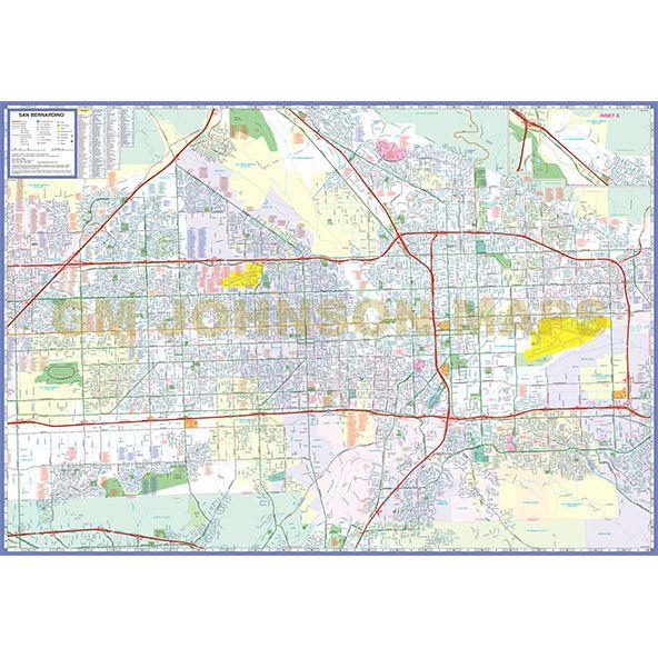 San Bernardino Fontana Rialto Redlands California Street Map