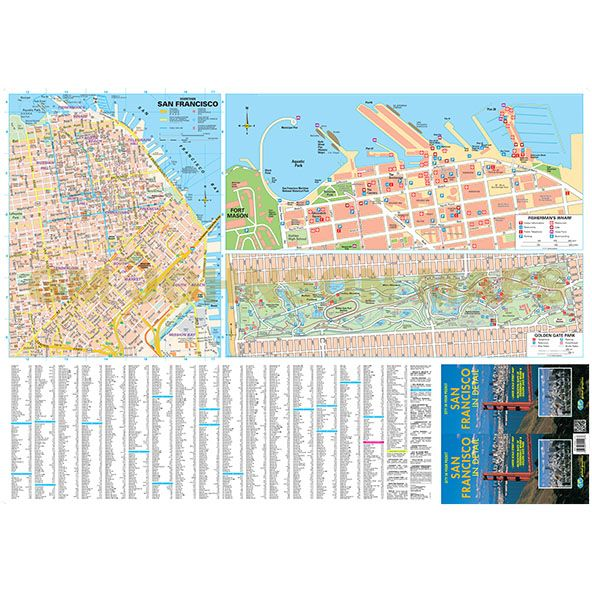 San Francisco In Detail, California Street Map - GM Johnson Maps
