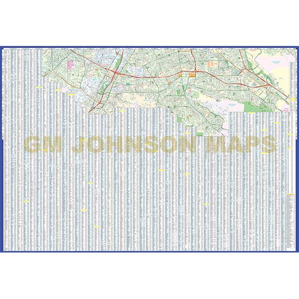 San Jose California Street Map GM Johnson Maps