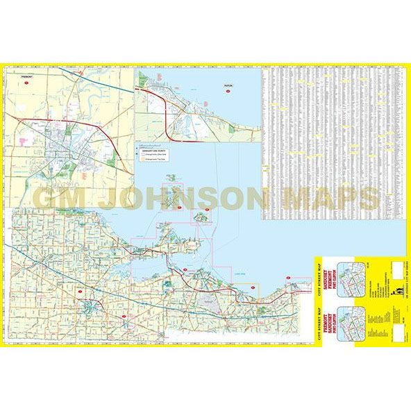 Sandusky Fremont Port Clinton Ohio Street Map Gm Johnson Maps