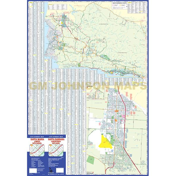 Santa Barbara / Santa Maria / Santa Ynez Valley, California ... on des moines new mexico map, goleta zip code map, corona street map, central california road map,