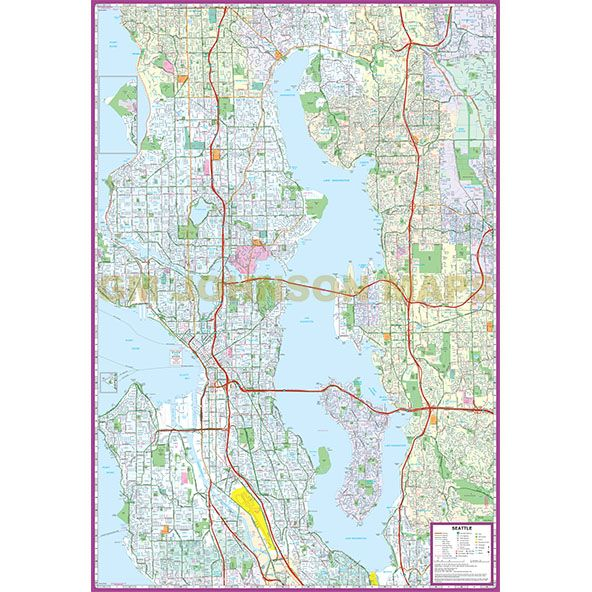 Seattle, Washington Street Map - GM Johnson Maps on seattle city limits map, united states map, downtown seattle map, st. louis map, austin texas map, seattle wa, seattle neighborhood map, mount rainier map, spanaway washington map, oregon map, washington state map, usa map, city of seattle boundary map, lynnwood washington map, puget sound washington map, georgetown seattle map, world map, tulsa oklahoma map, sequim washington map,